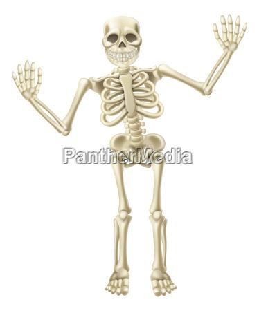 cartoon albero scheletro character