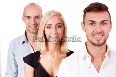 young successful team portrait isolated