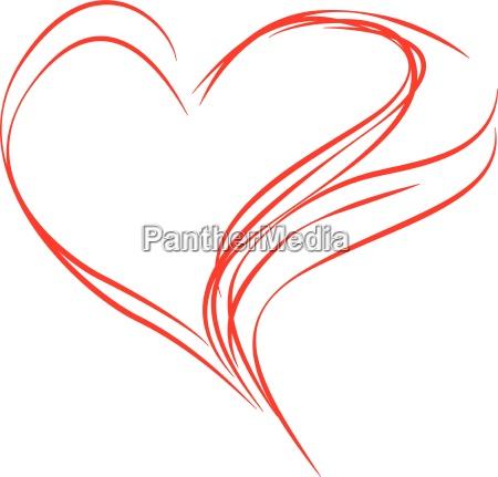 cuore astratto rosso