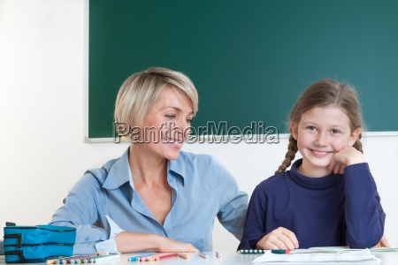 teacher and student