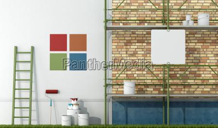 ristrutturazione, di, una, vecchia, facciata - 10014392