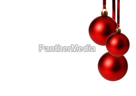 rosso palle di natale appesi sfondo