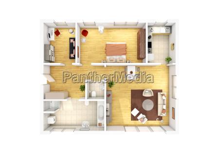 piano piano 3 camere appartamento