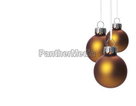 palle di albero di natale marrone