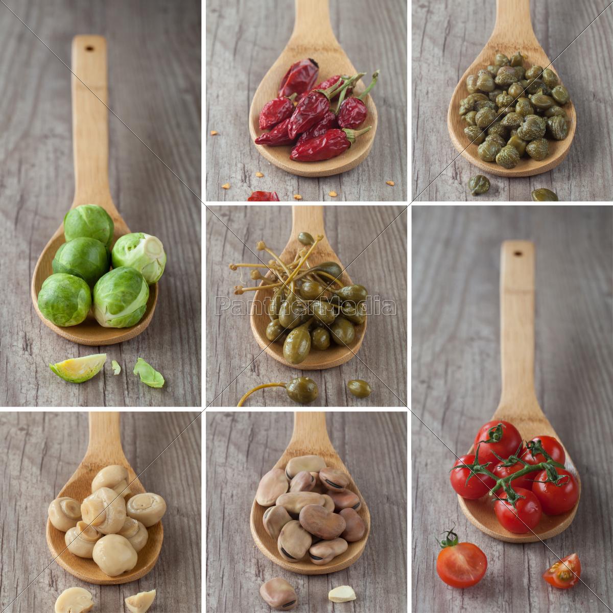 collage, di, verdure, miste - 10145813