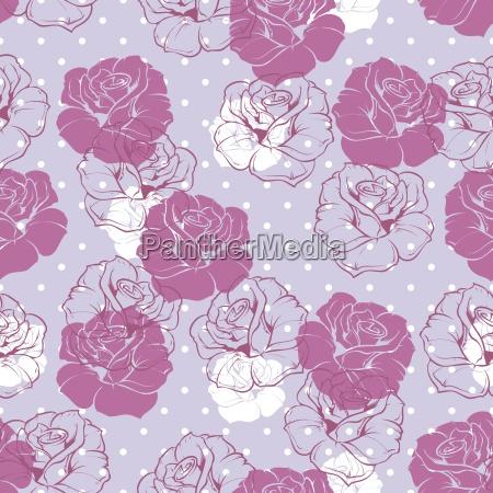 fiore rosa modello senza soluzione di