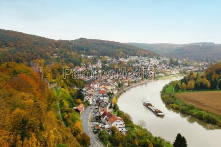 citta germania paesaggio natura fiume acqua