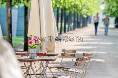 garden restaurant in the park