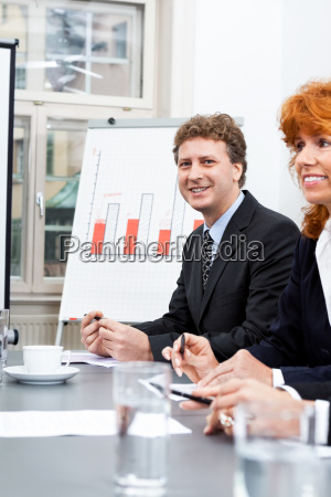 business people at a meeting in