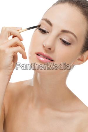 donna ritratto cura trattamento applicazione terme
