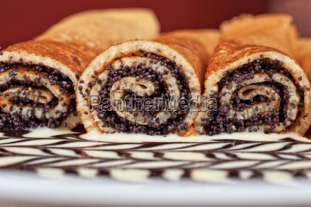 pancake, con, semi, di, papavero - 10559845