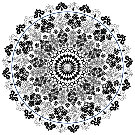black oriental pattern and ornaments