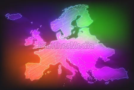 programma di europa con i bordi