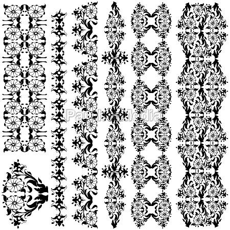 black oriental border and ornament eleven