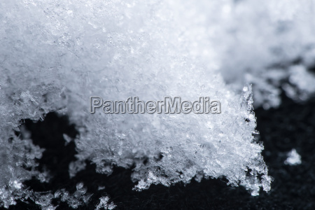 close up snow