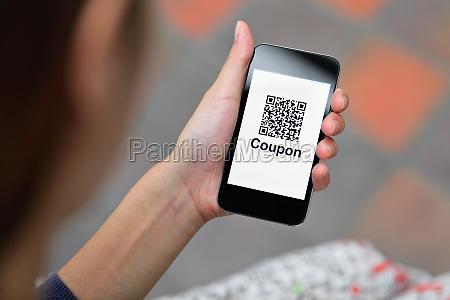 coupon codice qr su smartphone