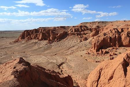 deserto mongolia erosione scogliere