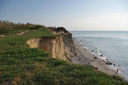steep coast between wustrow and ahrenshoop