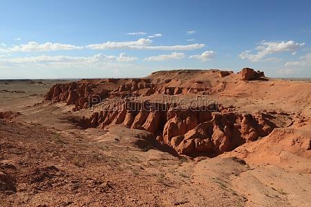 bayanzag le rocce fiammeggianti del deserto