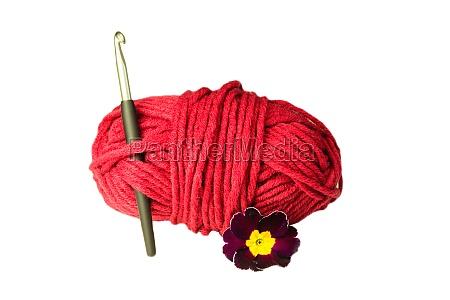 gomitolo di lana uncinetto fiori