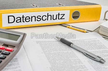 etichettatura della cartella dei file privacy