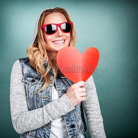 signora romantico contento felice entusiasta gioioso