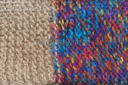 colorful knitted wool