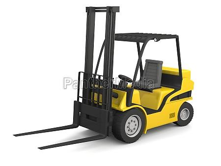 carrello elevatore giallo