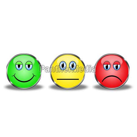 faccia semaforo smiley elezione scelta emozione