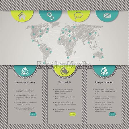 disegno del modello di sito web