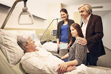 visita della famiglia ospedaliera