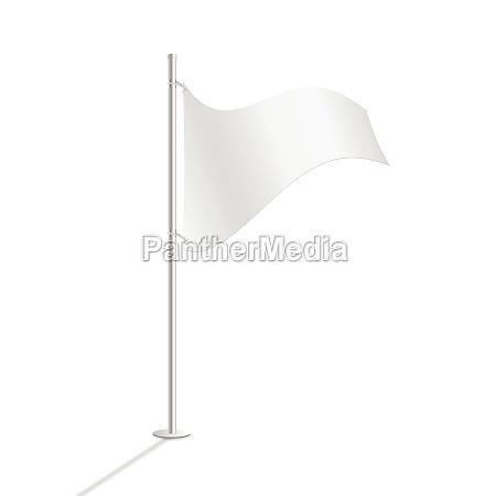 bandiera bianca illustrazione vettoriale