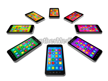 set di colori smartphone