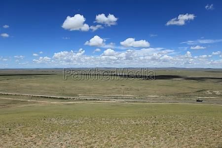 collina mongolia steppa paese montagnoso prato