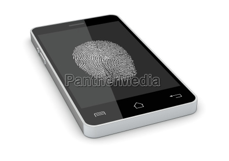 telefono cellulare dito rilasciato progettazione concetto