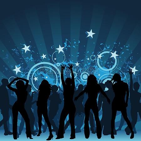 sfondo del partito di danza