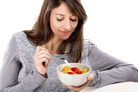 rilassante con una macedonia di frutta