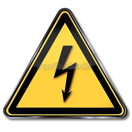segnali di pericolo di tensione pericolosi
