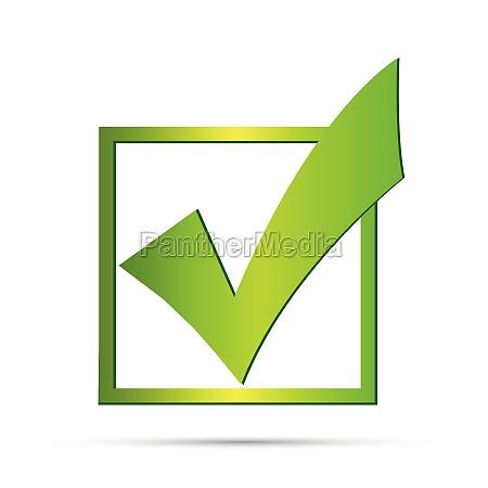 verde segno di spunta illustrazione