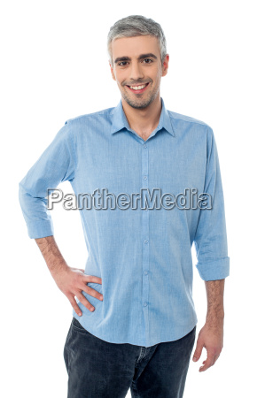 mature man man hands on hips