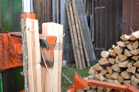 splitter in legno in uso