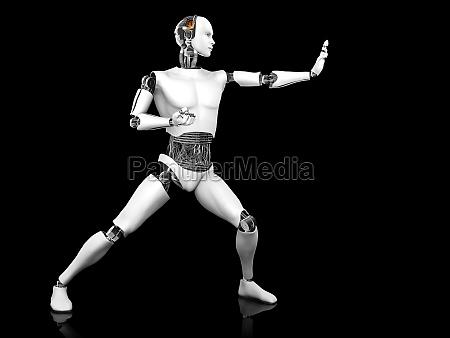 combattimento guerra posare karate lotta androide