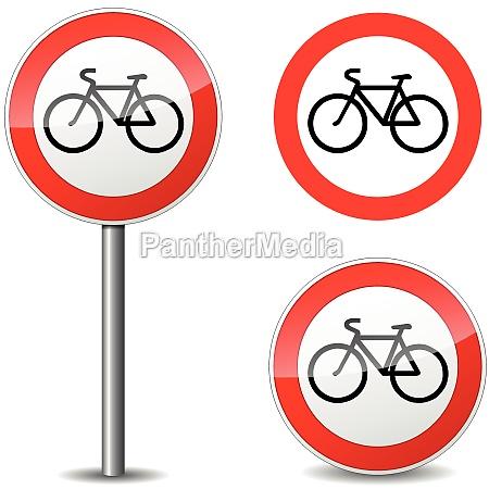 segno della bicicletta vettoriale