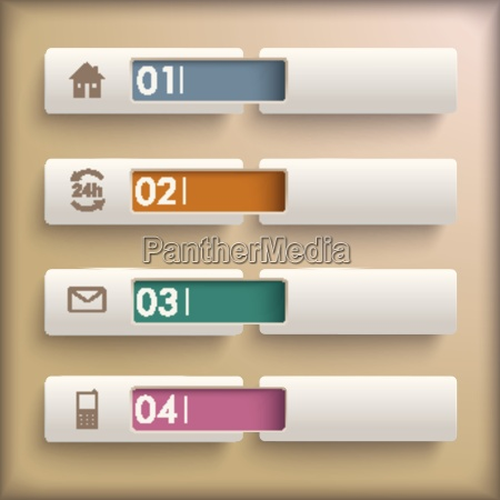 4 banner retro background infographic piad
