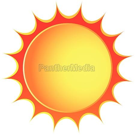vector sun icona