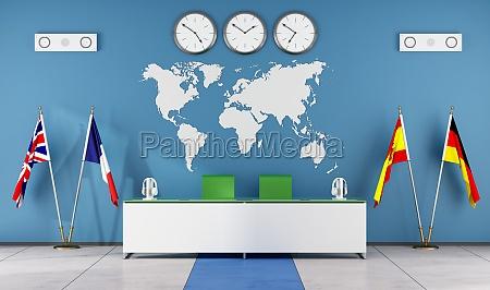 scrivania educazione bandiere lingua classe aula