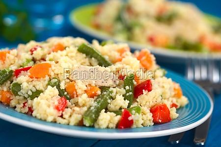 couscous con pollo fagiolino verde carota