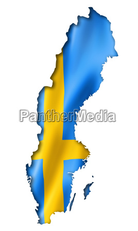 mappa bandiera svedese