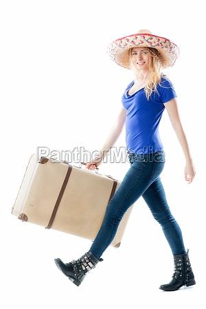 woman holiday vacation holidays vacations trunk