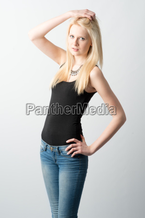 blond girl with long hair